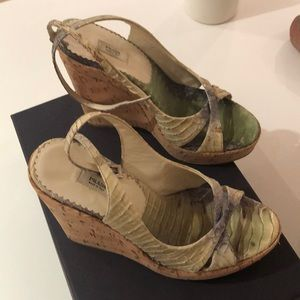 Prada snakeskin sandals